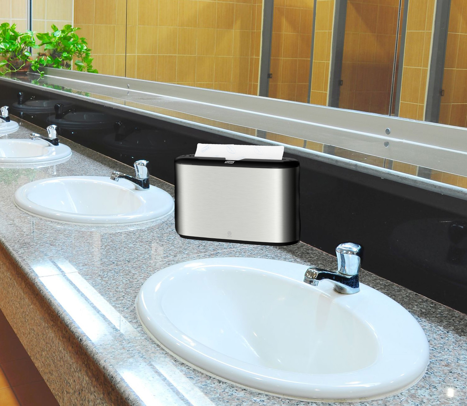 HDi Countertop Multifold towel dispenser
