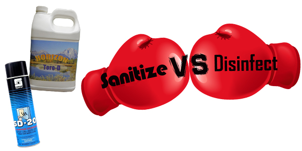 HDi Advantage September, Horizon Products, Sanitize vs disinfect, SD-20