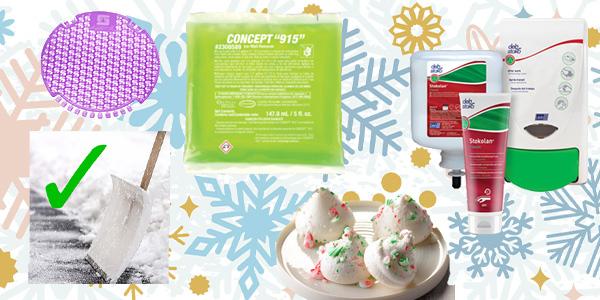 HDi Advantage Newsletter December 2019- Stokolan and SBS 40 Skin Cream, Xcelente Urinal Screens, Ice Melt, Peppermint Kisses