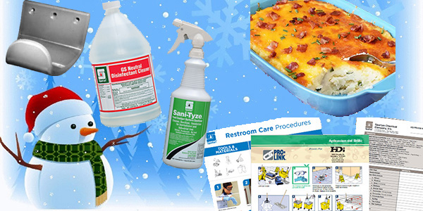 HDi Advantage Newsletter December 2020- GS Neutral Disinfectant Cleaner, Sani-Tyze Food Surface Spray, Training charts, Loaded Mashed Potato Casserole