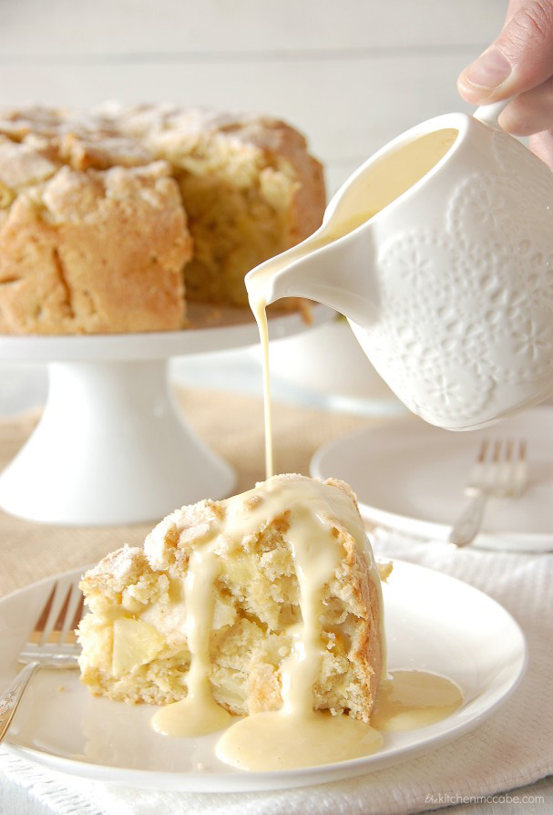 HDi Irish Apple Cake with Custard Sauce