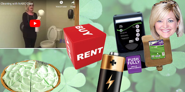 HDi Advantage March 2019, Renting VS Buying matting, Sherry's favorite product, how to clean a toilet, we carry batteries, Fluffy Key Lime Pie
