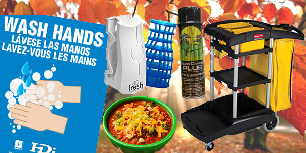 HDi Advantage Newsletter November 2019- Glass cleaner for cold temps, janitor cleaning carts, how to properly wash your hands, eco air cotton blossom