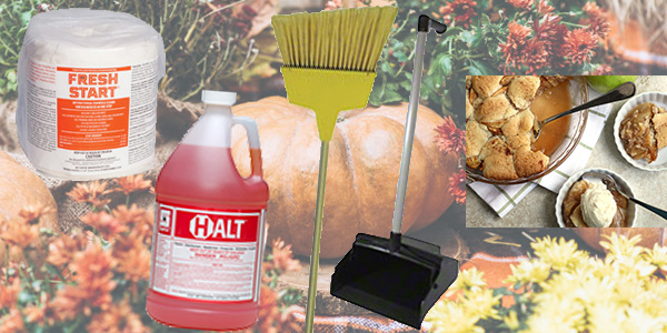 HDi Advantage Newsletter October 2020- Spartan's Brooms, dustpans and dust brooms, Halt disinfectant and cleaner, Fresh Start Disinfecting Wipes, Apple Snickerdoodle Cobbler