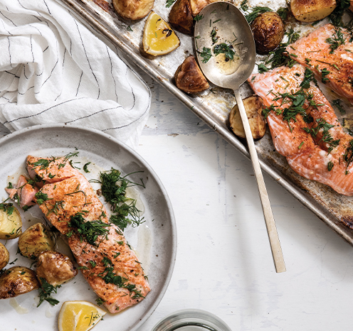 HDi Joanna Gaines's Weeknight Salmon with Baby New Potatoes and Dill